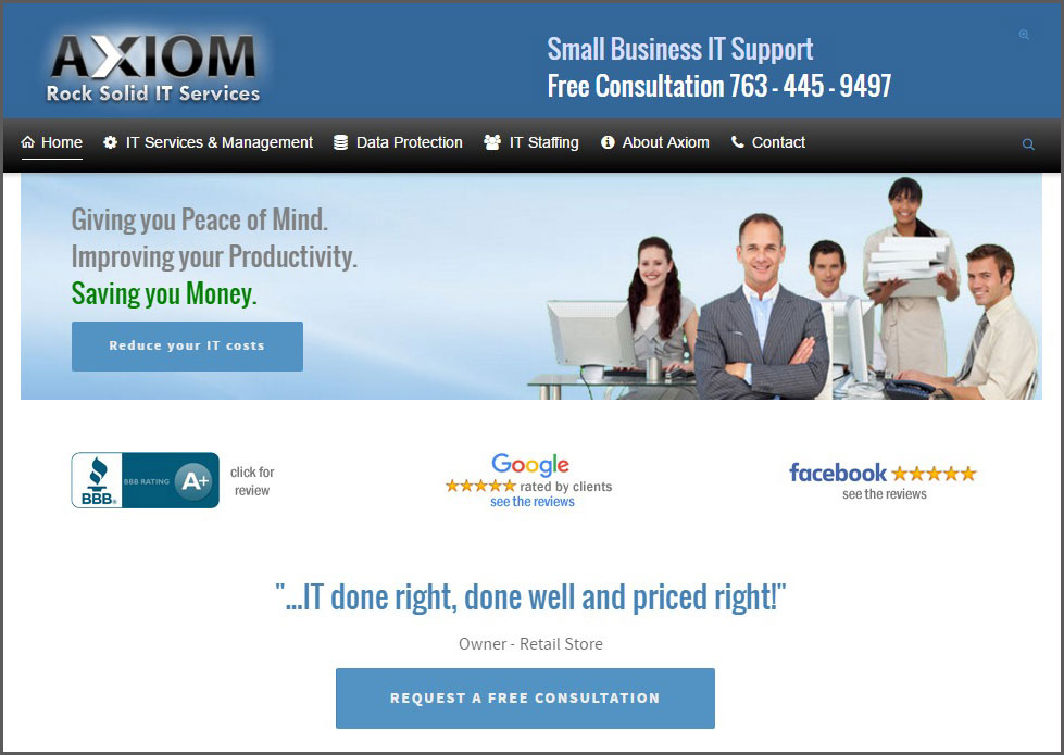 Axiom IT Services Minneapolis small business computer support
