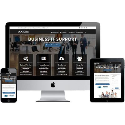 IT company website development - Axiom IT Services