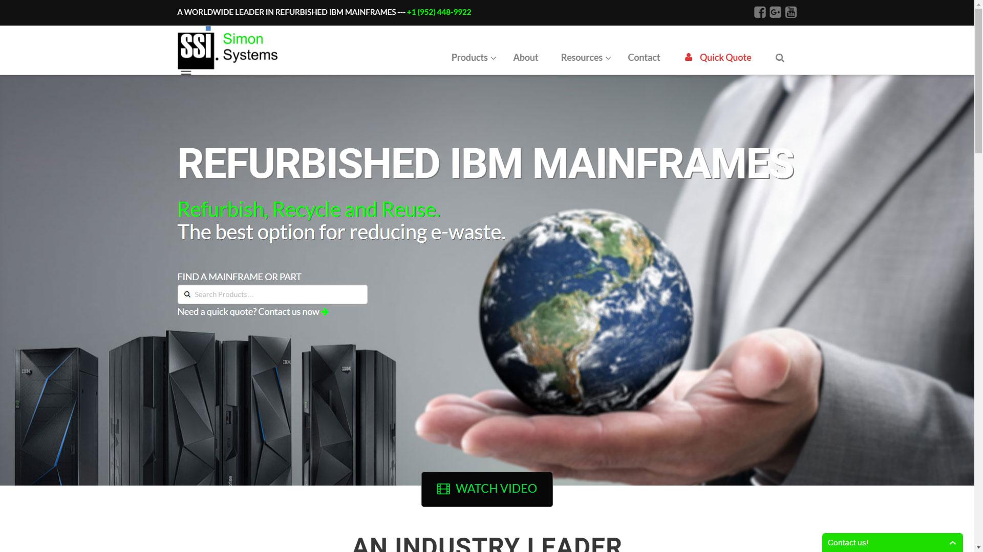 Simon Systems website development by Virbion