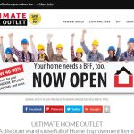 Ultimate Home Outlet - Virbon developed slogan, online brand, and consulting