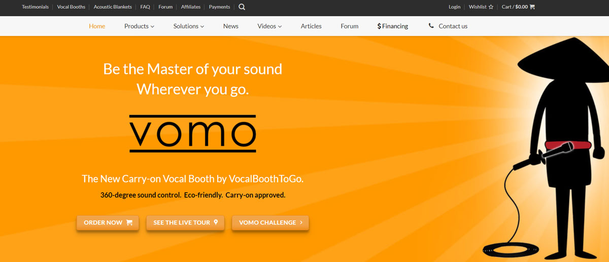 VOMO banner development for VocalBoothToGO