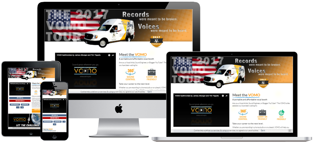 VOMO website development by Virbion Media