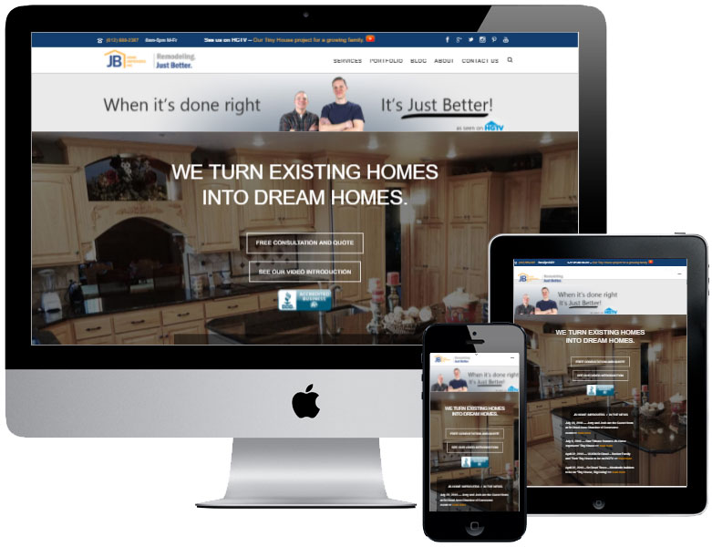 JB Home Improvers website, videos, and brand development by Virbion
