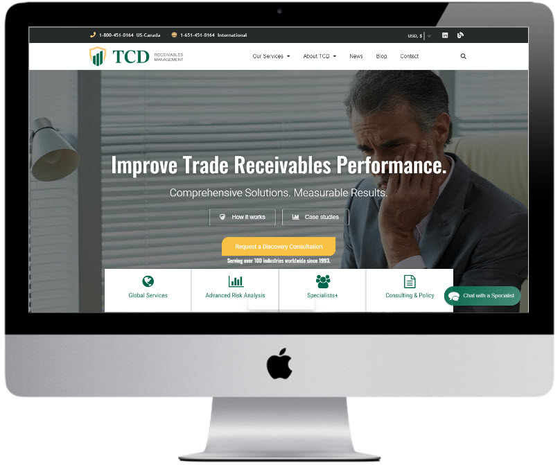 TCD Ad campaign landing pages